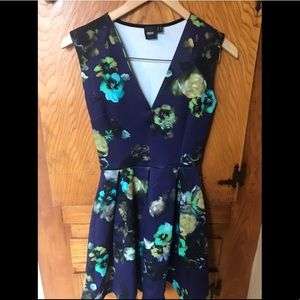 Navy blue floral ASOS dress